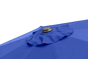 Belmont 9' Outdoor Patio Table Umbrella With Tilt And Crank, Blue, large