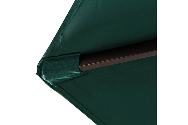 Belmont 9' Outdoor Patio Table Umbrella With Tilt And Crank, Green, large