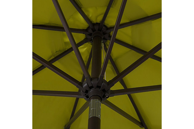 Belmont 9' Outdoor Patio Table Umbrella With Tilt And Crank, Lime, large