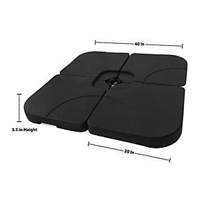 Westin 4-Piece Universal Standard Cross Base Umbrella Weights, , large