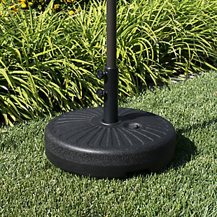 "Spring 20"" Outdoor Free Standing Umbrella Base, Black, rollover"