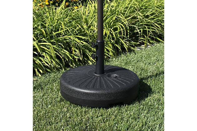 "Spring 20"" Outdoor Free Standing Umbrella Base, Black, large"