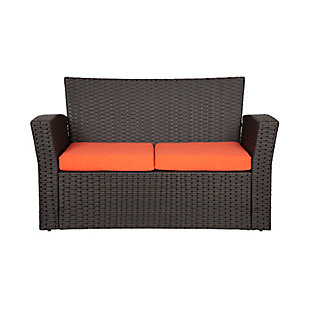 Chocwell 4-Piece Outdoor Patio Sofa Set with Cushions, Orange, large