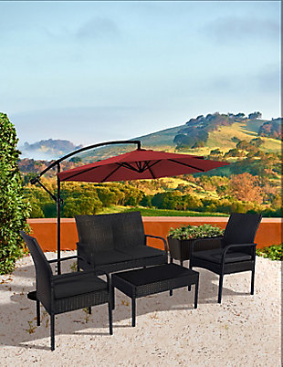 Westin 4-Piece Rattan Wicker Modern Sofa Set, , rollover