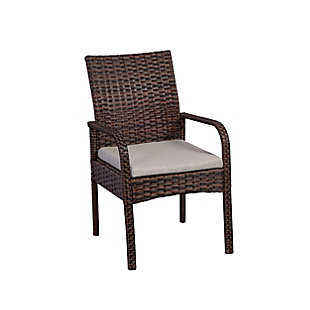 Orson 3-Piece Outdoor Rattan Wicker Modern Seating Set, Beige, large