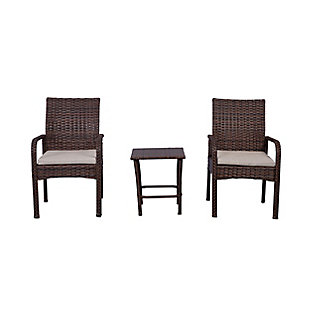Westin 3-Piece Rattan Wicker Modern Seating Set, , large