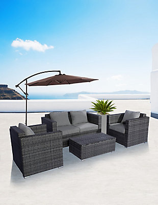 Westin 4-Piece Contemporary Sofa Set with Cushions, , rollover