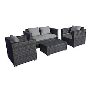 Westin 4-Piece Contemporary Sofa Set with Cushions, , large