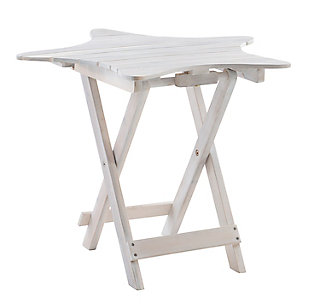 Powell Austin Whitewash Outdoor Folding Table, , large