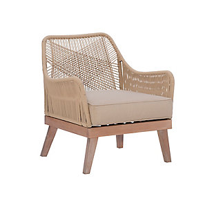 Powell Alridge Natural Rope Chair, , large