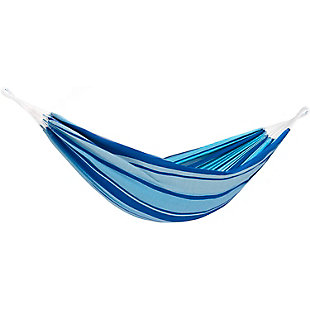 Outdoor Outdoor Double Brazilian Style Hammock Island Breeze, Blue, large