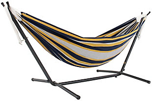 Outdoor Outdoor Double Cotton Hammock Serenity with 9 ft. Stand, , large