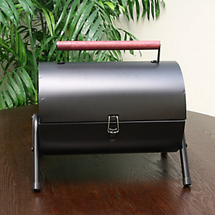 Gibson Home Delwin 5-Piece Carbon Steel Barrel BBQ Set, , rollover