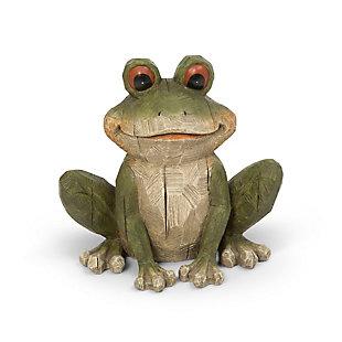 "Gerson International 12.8"" Outdoor Magnesium Garden Frog Figurine, , rollover"