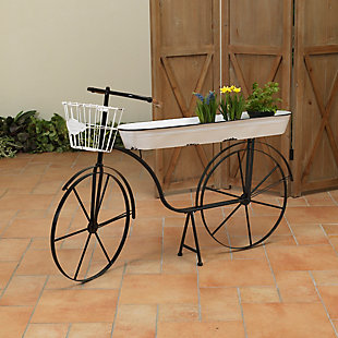 """Gerson International 46"""" Outdoor Long Metal Bicycle Plant Stand, , large"""