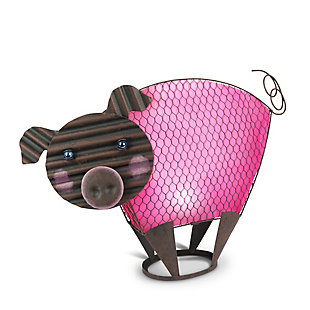 "Gerson International 19"" Outdoor Solar Lighted Garden Meadow Pig, , large"
