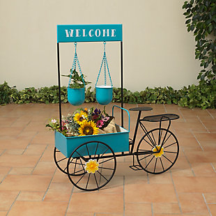 "Gerson International 37.5"" Outdoor Flower Wind Metal Flower Cart, , large"
