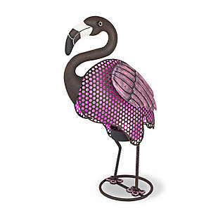Gerson International Outdoor Rustic Solar Lighted Garden Meadow® Flamingo, , large