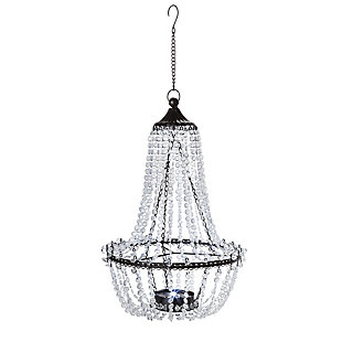 "Gerson International 23.2"" Outdoor Hanging Metal and Acrylic Solar Garden Meadow® Chandelier, , large"