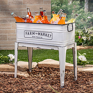 """Gerson International 23"""" Outdoor Metal Planter with Stand, , rollover"""