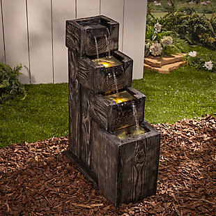 """Gerson International 32.6"""" Outdoor Electric Polyresin Water Fountain, , rollover"""