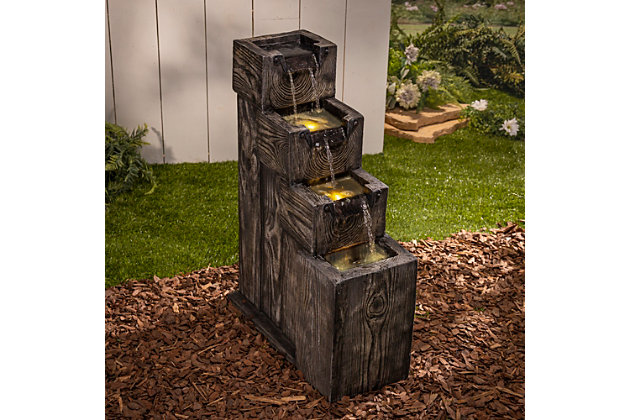 """Gerson International 32.6"""" Outdoor Electric Polyresin Water Fountain, , large"""