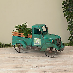 "Gerson International 41"" Outdoor Solar Lighted Metal Garden Truck, , large"