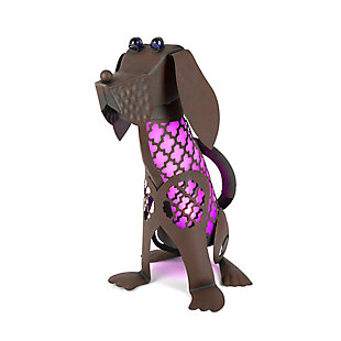 "Gerson International 15.5"" Outdoor Solar Lighted Garden Meadow Dog, , large"