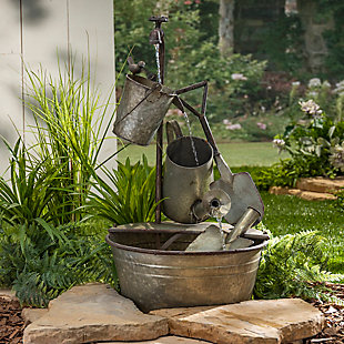"""Gerson International 28.35"""" Outdoor Electric Gardening Tool Water Fountain, , rollover"""