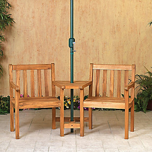 "Gerson International 65"" Outdoor Wooden Jack and Jill Patio Set, , rollover"