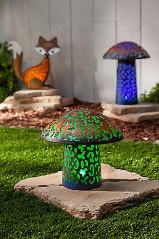 """Gerson International 17.5"""" Outdoor Solar Lighted Garden Meadow Mushroom, , rollover"""