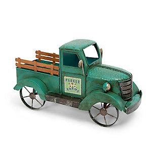 "Gerson International 18.9"" Outdoor Metal Antique Garden Truck, , rollover"