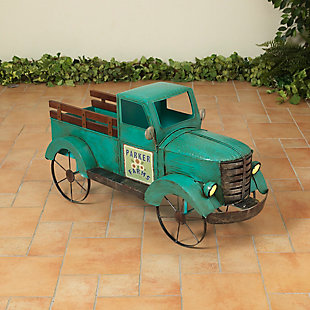 "Gerson International 18.9"" Outdoor Metal Antique Garden Truck, , large"