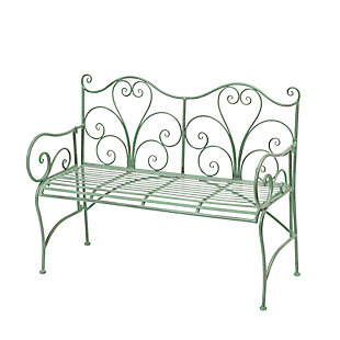 "Gerson International 48"" Outdoor Antique-Style Metal Bench, , rollover"