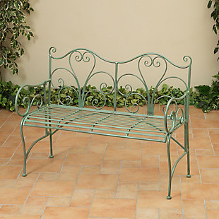 "Gerson International 48"" Outdoor Antique-Style Metal Bench, , large"