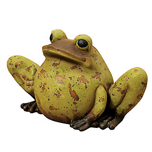"Gerson International 22"" Outdoor Magnesium Antiqued Garden Frog, , large"