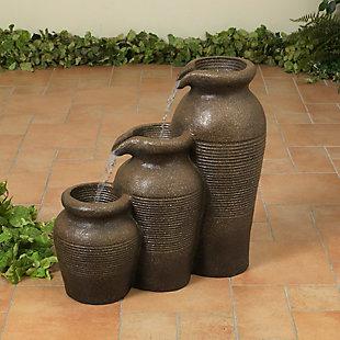 "Gerson International 24"" Outdoor Electric Polyresin Garden Water Fountain, , large"