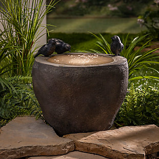 """Gerson International 15.75"""" Outdoor Diameter Electric Polyresin Whirlpool Water Fountain, , rollover"""