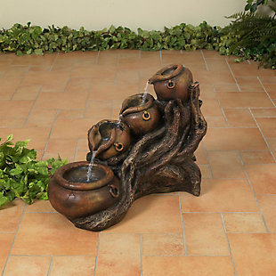 """Gerson International 25.5"""" Outdoor Electric Cascading Pot Water Fountain, , large"""