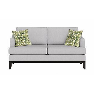 "Deckside Flora Bloom Indoor/Outdoor Pillow Green 18"" Square, Green, large"