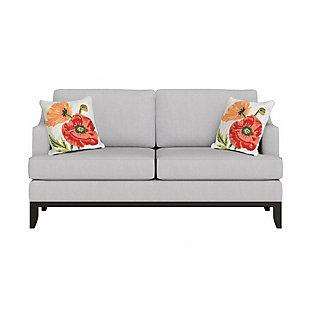 "Deckside Wild Blooms Indoor/Outdoor Pillow Neutral 18"" Square, , rollover"