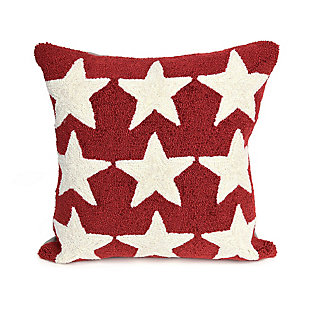 "Deckside Luminary Indoor/Outdoor Pillow Red 18"" Square, , large"