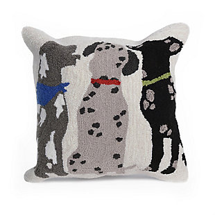 "Deckside Spotted Friends Indoor/Outdoor Pillow Multi 18"" Square, , large"