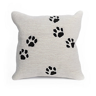 """Deckside Dog Path Indoor/Outdoor Pillow Neutral 18"""" Square, , large"""