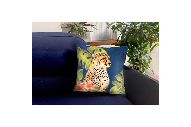 "Cirrus Wild Cats Indoor/Outdoor Pillow Jungle 18"" Square, , large"