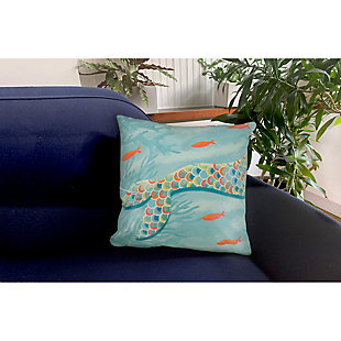 "Cirrus Sea Queen Indoor/Outdoor Pillow Ocean 18"" Square, , rollover"