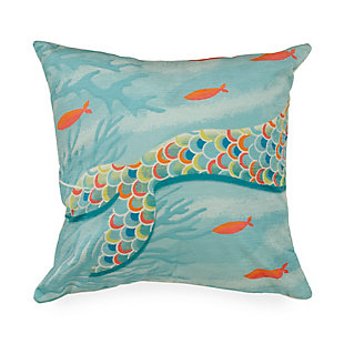 "Cirrus Sea Queen Indoor/Outdoor Pillow Ocean 18"" Square, , large"