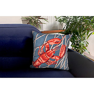 "Cirrus Crustacean Indoor/Outdoor Pillow Navy 18"" Square, , rollover"