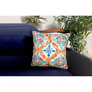 "Cirrus Talavera Indoor/Outdoor Pillow Ocean 18"" Square, Blue, rollover"