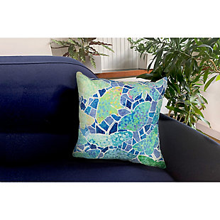"""Cirrus Vibrant Wings Indoor/Outdoor Pillow Blue 18"""" Square, , rollover"""